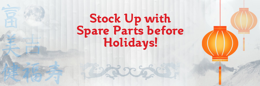 Buy spare parts before holidays