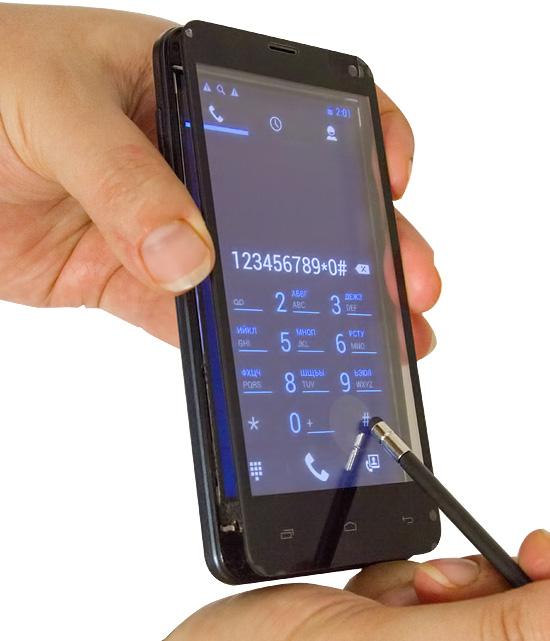 Проверяем работоспособность сенсорного экрана