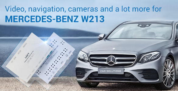 Video Interface and Camera Adapter for Mercedes-Benz W213