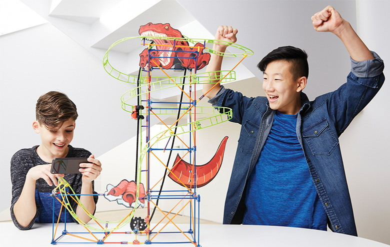 K'NEX Thrill Rides T-Rex Fury Roller Coaster Building Set