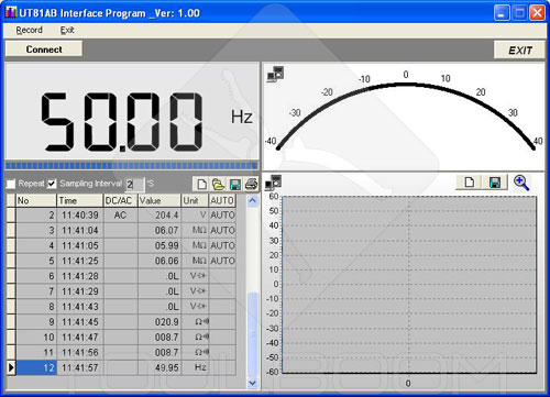 Software of UNI-T UT81B scope multimeter (multimeter mode)