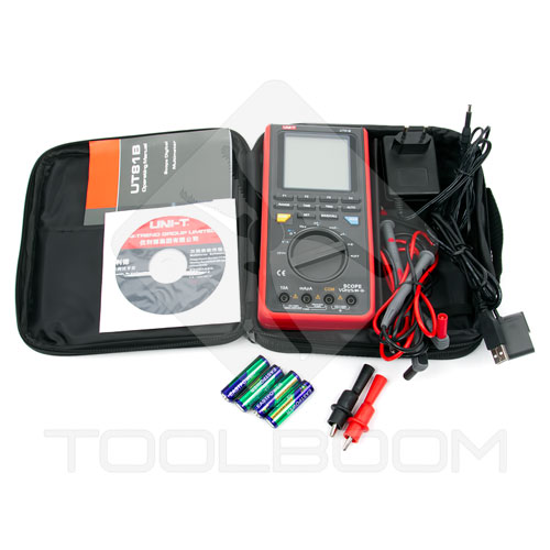 Package content of UNI-T UT81B scope multimeter