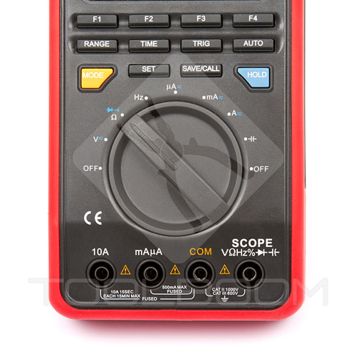 UNI-T UT81B scope multimeter control panel