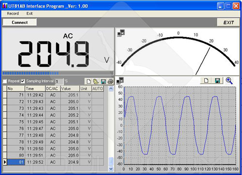 Software of UNI-T UT81B scope multimeter (oscilloscope mode)
