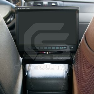Armrest monitor with DVD player