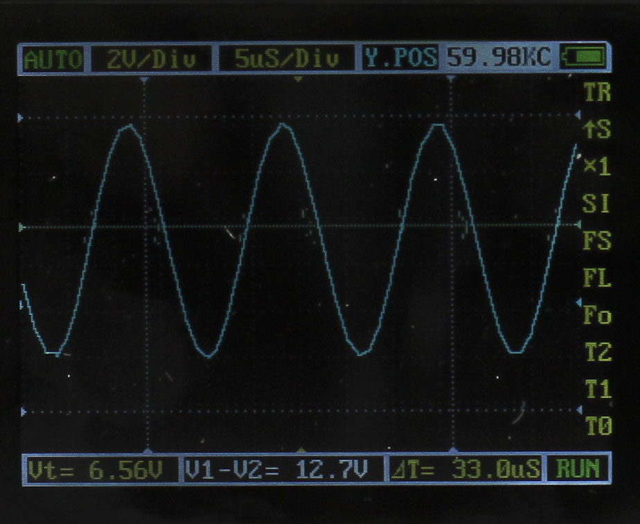 Menu of DSO Nano 201 Pocket-Sized Oscilloscope with APP v2.5e Firmware