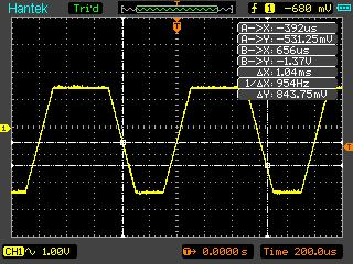 Функция слежения цифрового осциллографа Hantek DSO8060