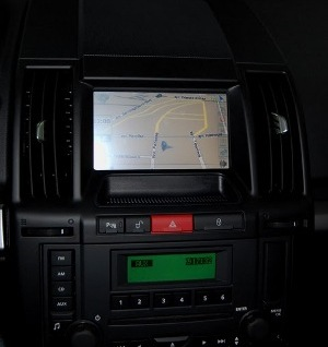 Land Rover Freelander with installed monitor