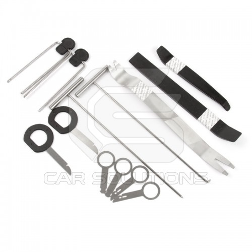 Trim and radio removal tool kit (13 pieces)