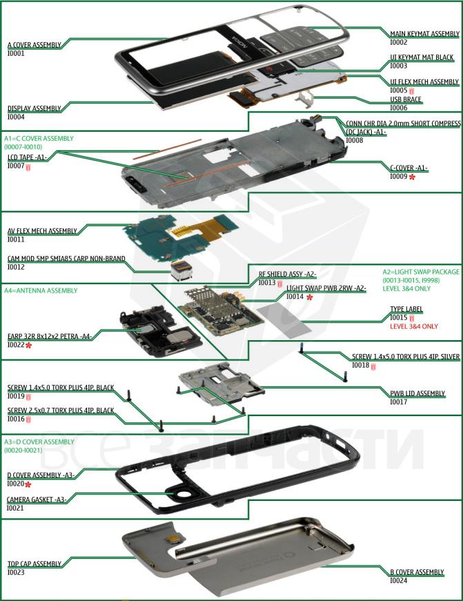Корпус Nokia 6700 Classic