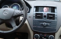 Video in Motion on Mercedes-Benz OEM monitor