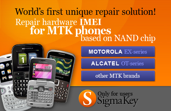 Repair hardware IMEI for MTK cell phones based on NAND