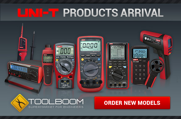 Order new models of multimeters, oscilloscopes, pyrometers and clamp meters at attractive price