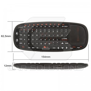 Wireless Ultra Mini Keyboard with Touchpad and Pointer