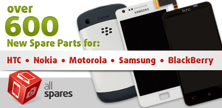 Over 600 Spare Parts for Cell Phones