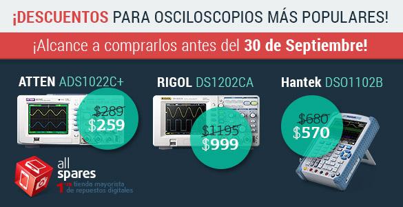 Descuentos para osciloscopios digitales