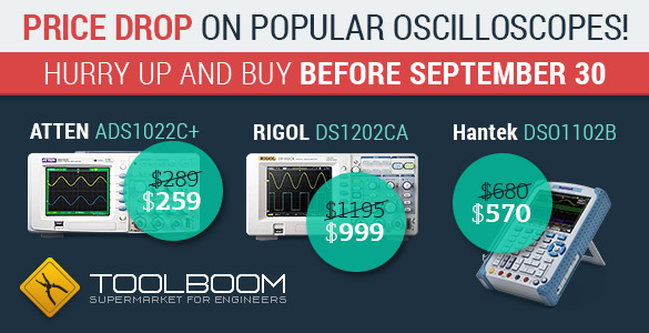 Discounts for digital oscilloscopes
