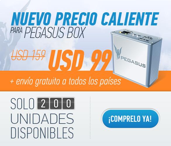 ¡Pegasus Box - $99 envío incluido!