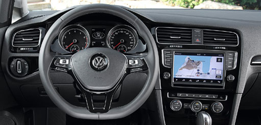 Video Interface with Navigation for Volkswagen Golf 7 2013-