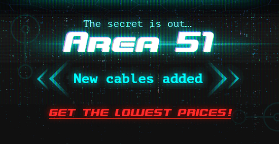 AREA 51 ENTRANCE - Get the lowest prices on 200+ cables!