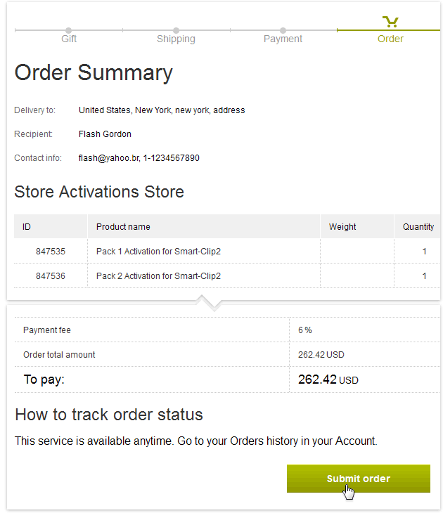 How to Shop: Submit order