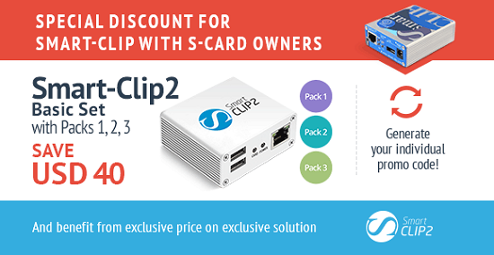 Smart-Clip2 Basic Set with Packs 1, 2, 3 Activated for Smart-Clip with S-Card owners