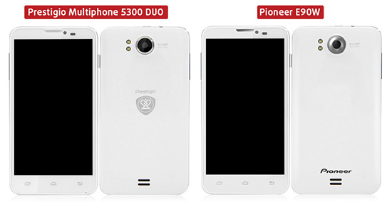Prestigio Multiphone PAP5300 DUO and Pioneer E90W
