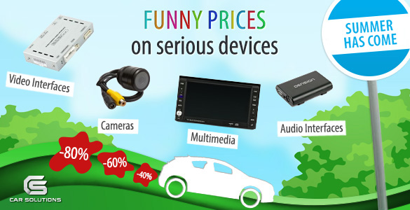 Car electronics sales in Car Solutions online store