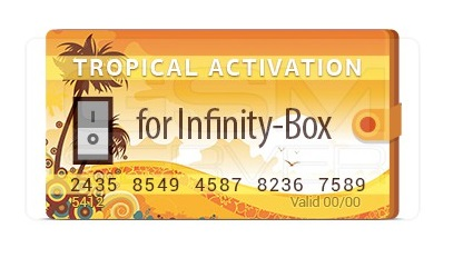 Tropical Software Activation for Infinity Box