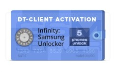 Infinity Samsung unlocker DT-Client software activation for 5 devices