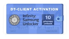 Infinity Samsung unlocker DT-Client software activation for 10 devices