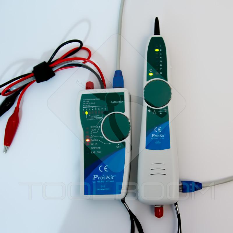 Revisión del cable tipo par trenzado con ayuda de probador  ProsKit MT-7068