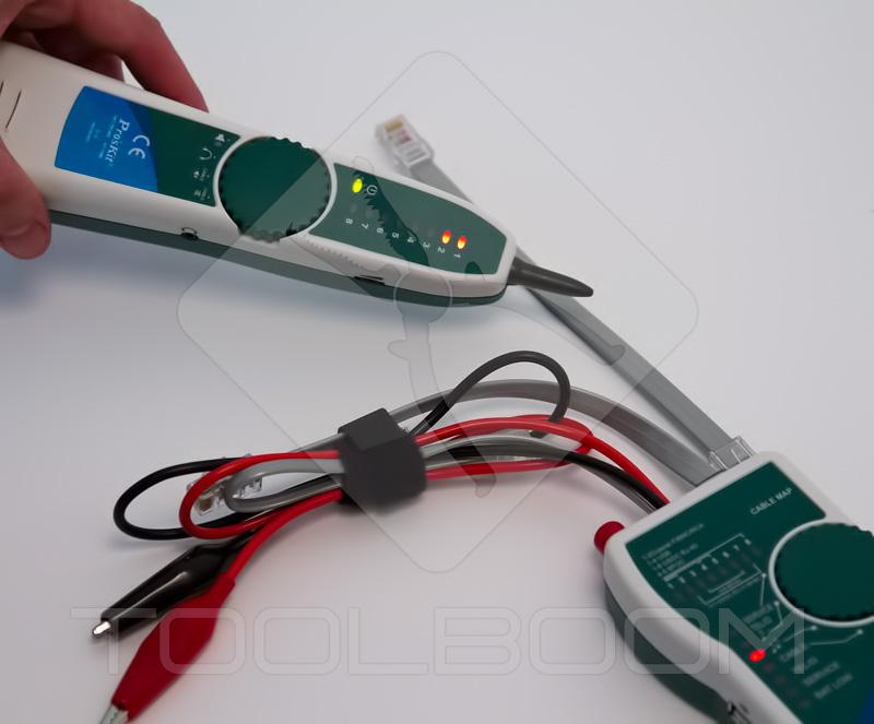 Detección de un cable determinado con ayuda de probador de redes  ProsKit MT-7068