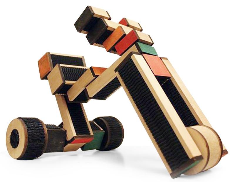 Блоковий дерев'яний конструктор COKO Blocks 22