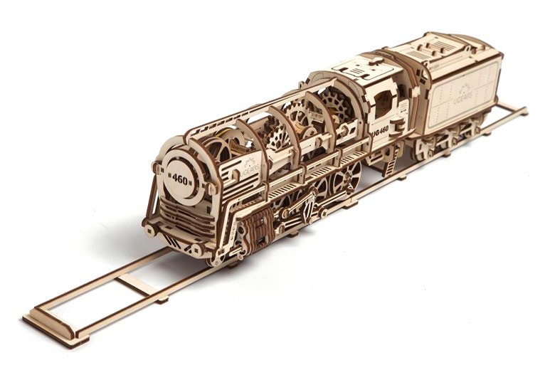 Mechanical 3D Puzzle UGEARS Steam Locomotive with Tender