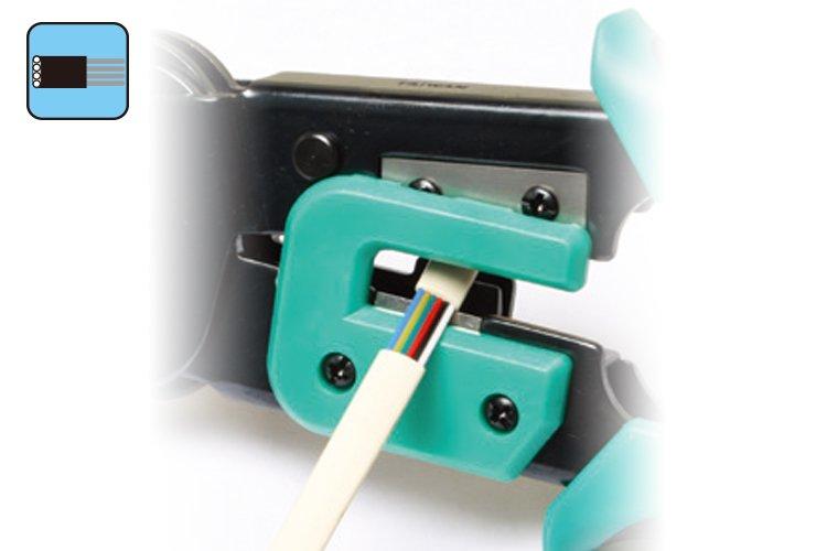 Зачищування плоских телефонних кабелів