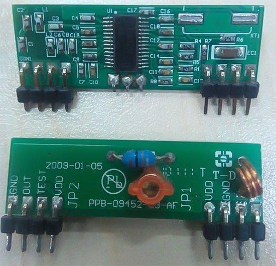 Схема модуля-приймача пульта дистанційного керування