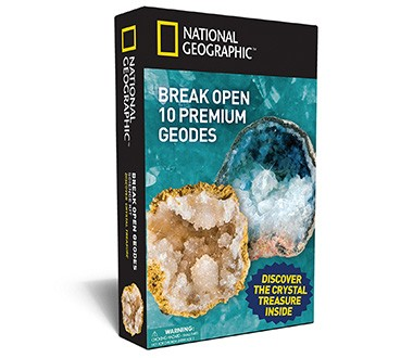 National Geographic Break Open 10 Premium Geodes Kit