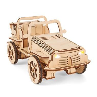 Дерев'яний конструктор EcoBot автомобіль Баггі з Bluetooth-керуванням