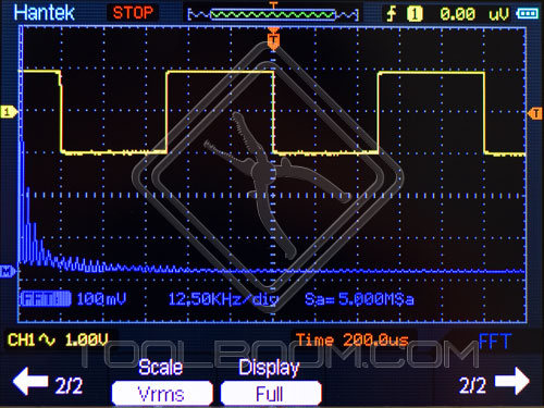 Math menu of Hantek DSO1060 Handheld Oscilloscope