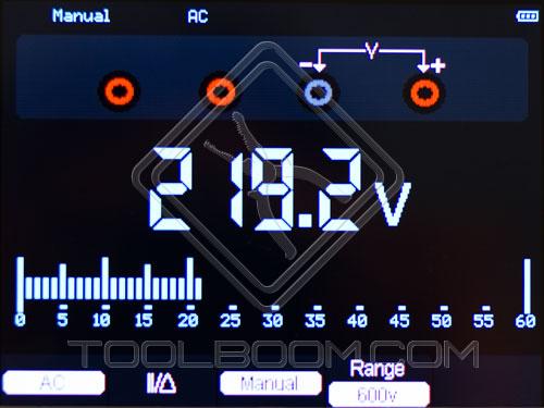 Multimeter Mode of  Hantek DSO1060 Handheld Oscilloscope
