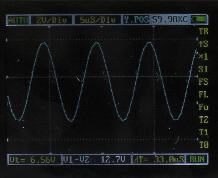 Menu of DSO Nano 201 Pocket-Sized Oscilloscope with APP v2.5e Firmware