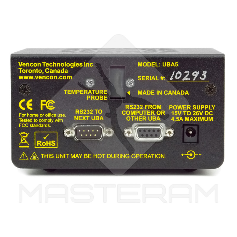 Роз'єми підключення аналізатора батарей Vencon UBA5