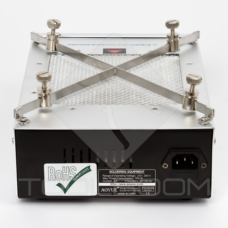 AOYUE Int 853A Quartz Infrared Preheating Station Back Panel
