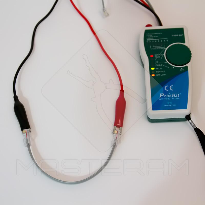 Перевірка цілісності кабелю тестером ProsKit MT-7068