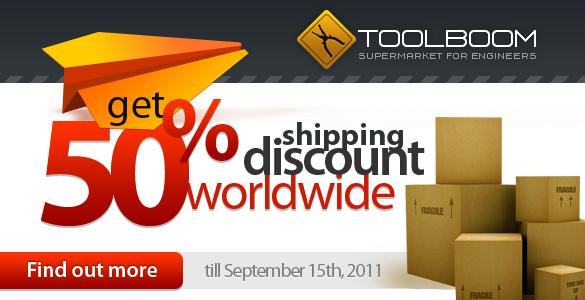 50% discount os shipping Worldwide!