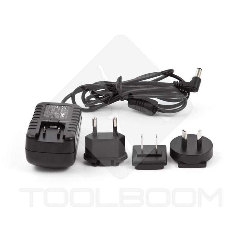 Osciloscopio digital Hantek DSO8060 - Fuente de alimentación con clavijas intercambiables