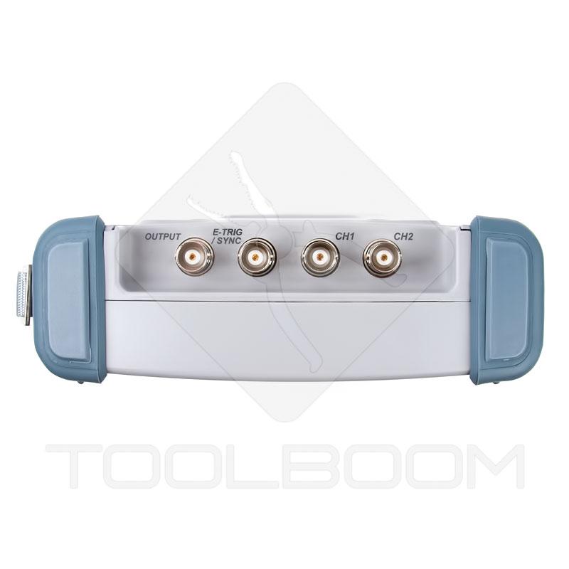Osciloscopio digital Hantek DSO8060 entradas y salidas