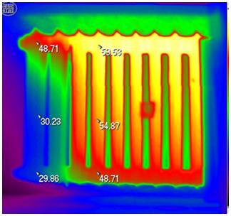 Термограмма батареи отопления