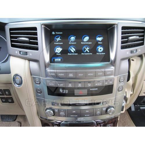 Установка навигационного блока CS9100 в Lexus LX570